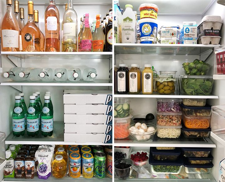 Inside Candace Nelson's Fridge (How To Be The Queen of Comfort Food + Still Look Amazing is part of Fridge Organization Inside Refrigerator - Climb inside the epic fridge of Candace Nelson, founder of the westside's new pizza bae, Pizzana