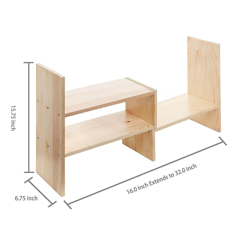 Desktop Shelves Bookshelf Desk Organizer Adjustable Countertop Bookcase Diy Table Storage Accessories Display Bookcase Diy Bookcase Organization Bookshelf Desk