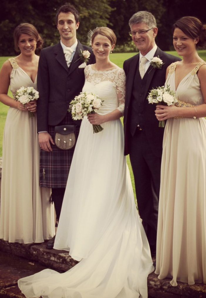 Sarah Wearing Stella York Wedding Gown With Paris Bolero La Novia Bridal Dress Dresses Edinburgh 0131 5563445
