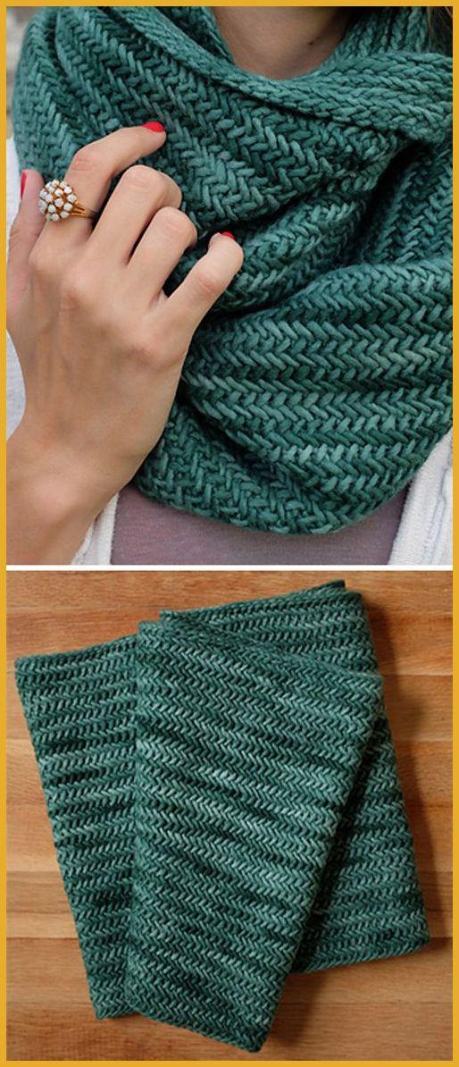 Photo of Big Herringbone Cowl – Free Knitting Pattern