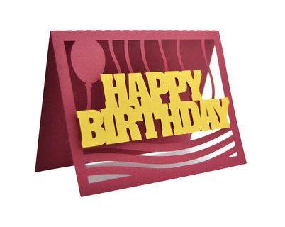 Happy Birthday Card Blank Inside Balloon Family Friends Co