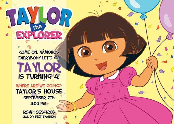 Dora the Explorer Birthday Party Invitation Etsy – Dora Party Invites