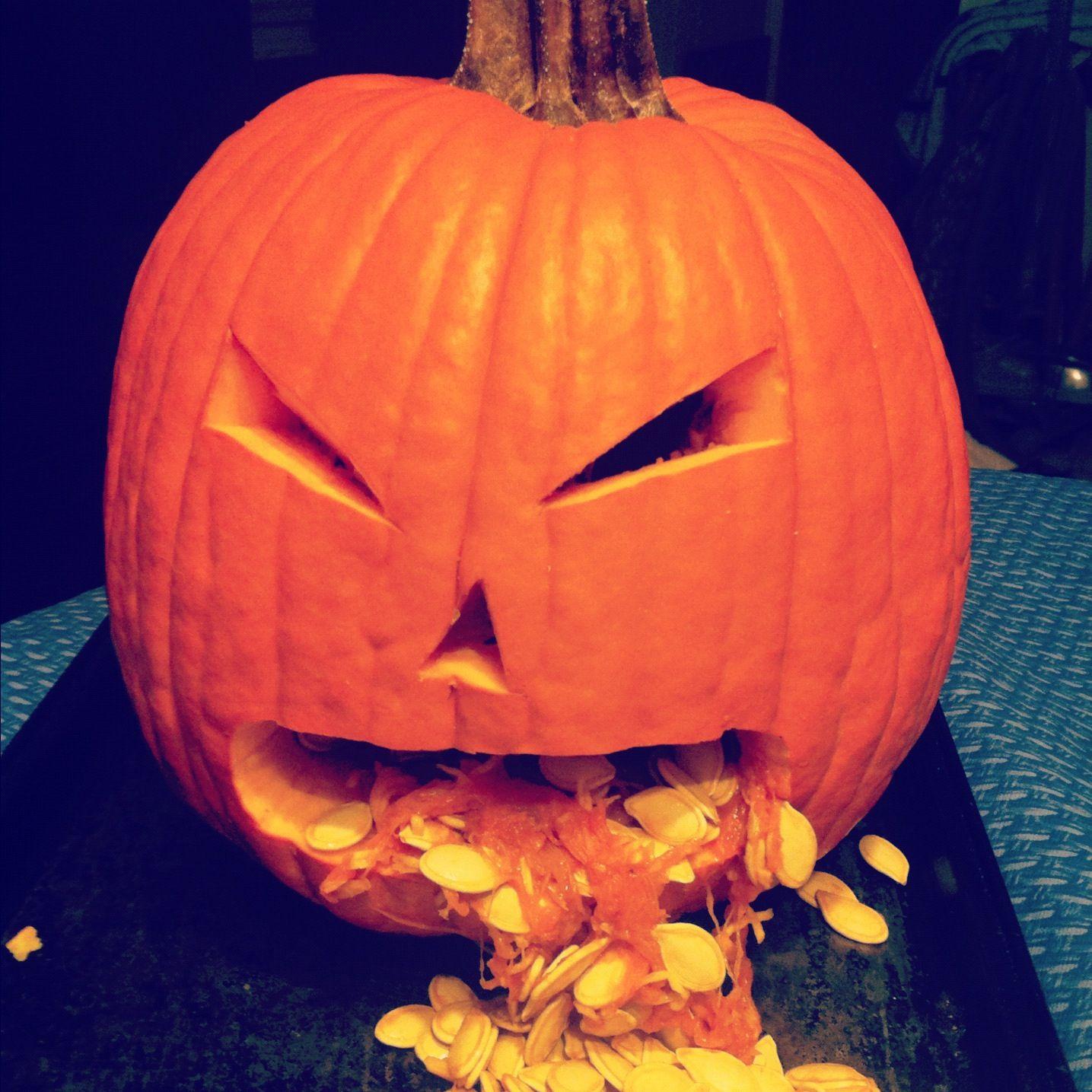 Pumpkin throwing up   Pumpkins   Pinterest