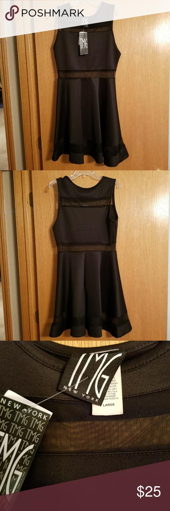 Nwt little black mesh dress nwt mesh dress black mesh and dress