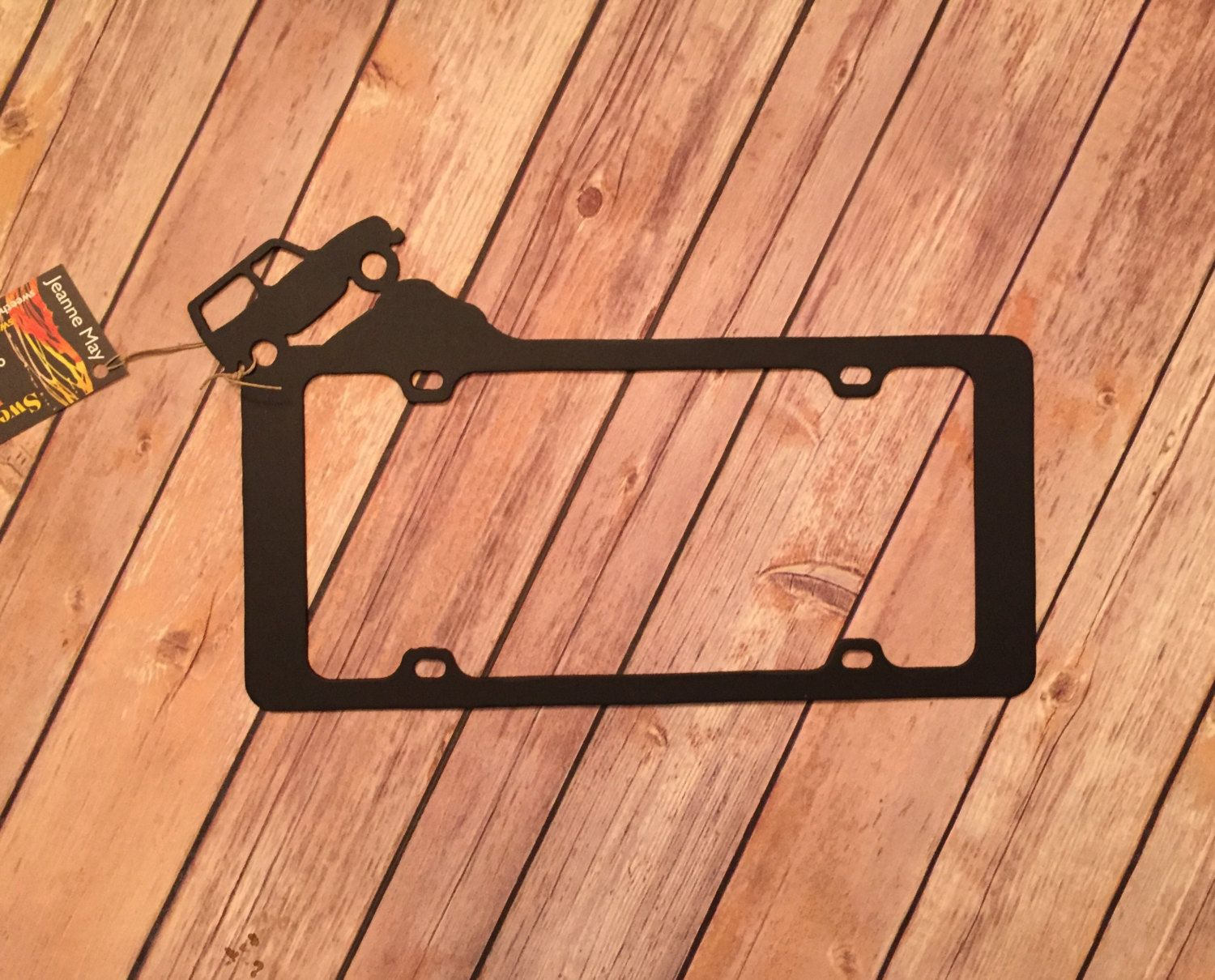 Jeep License Plate Frame By Sweetheatmetalart On Etsy Jeep