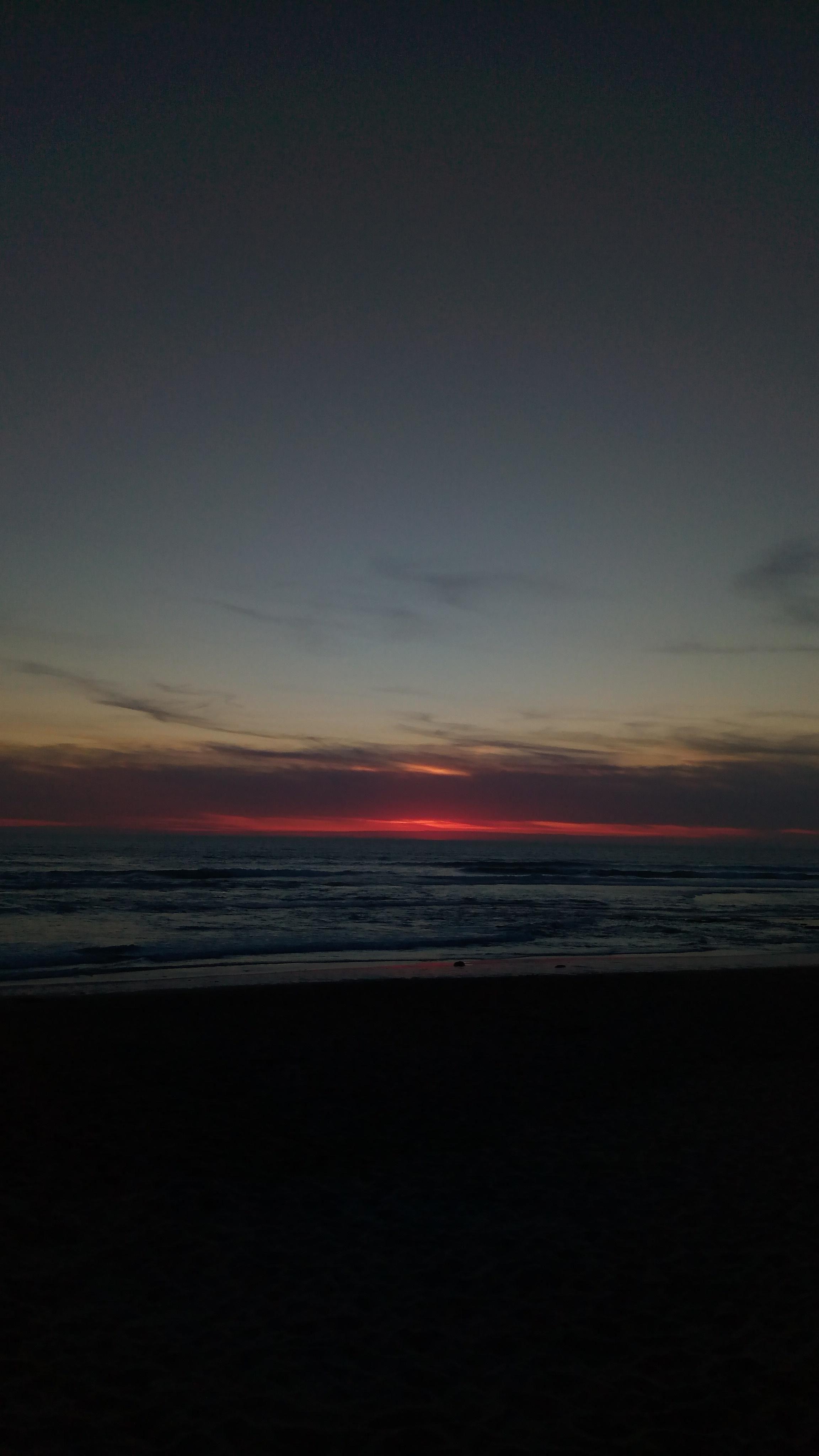 First June Sunset in Praia da Areia Branca Lourinhã