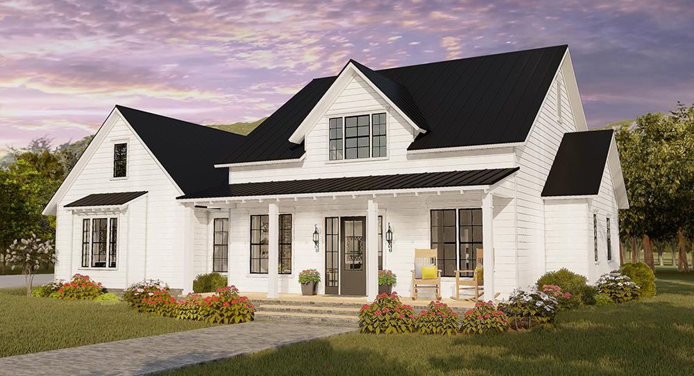 Bedroom Farm House Style House Plan 7263 Magnolia 4 Rumah Impian Rumah Impian