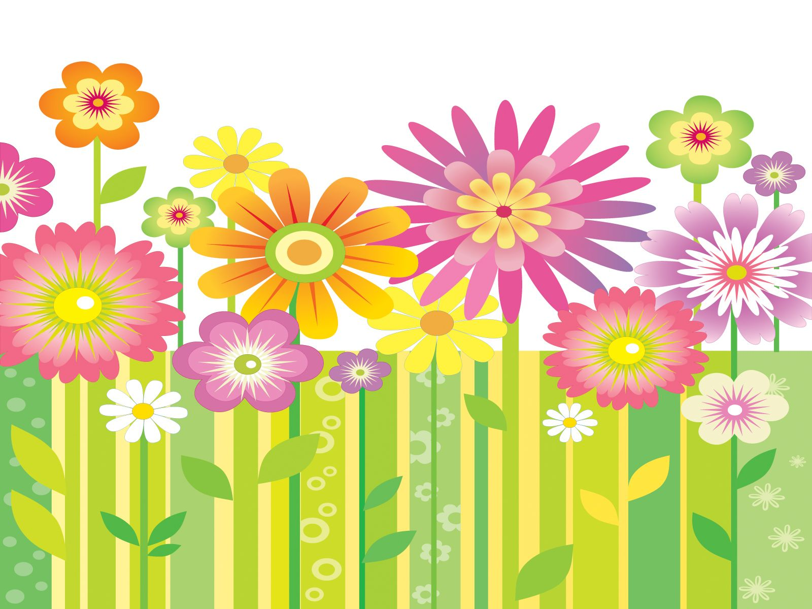This Abstract Garden ppt template has a green background design