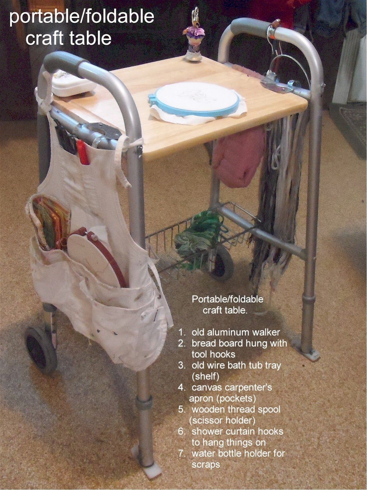 16+ Portable craft table on wheels info
