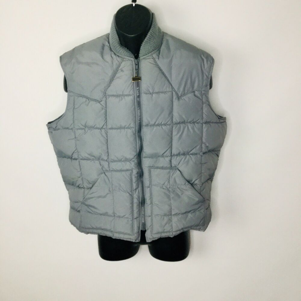 Vintage Walls Blizzard Pruf Puffer Vest Insulated Jacket Usa Mens