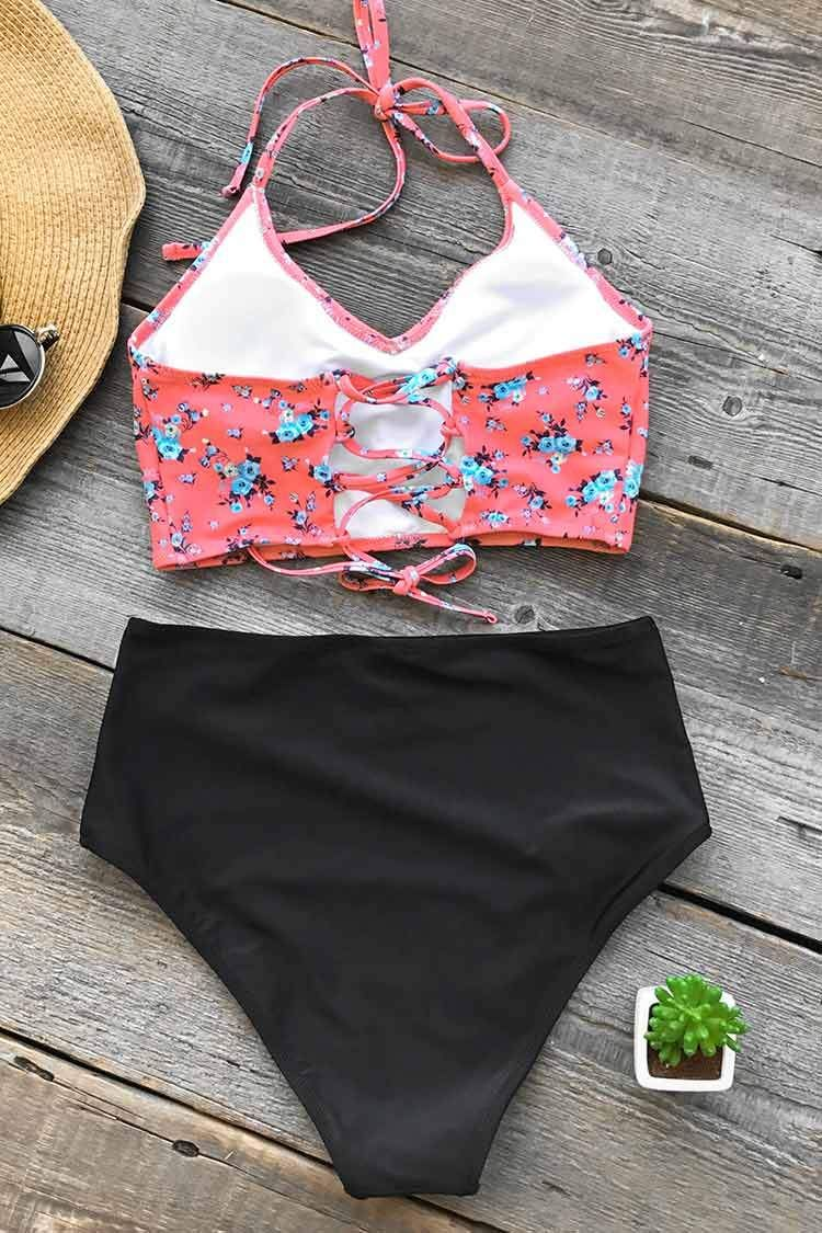 2354d61c77 Cupshe Attract Your Attention Halter Bikini Set | Swim suits in 2019 ...