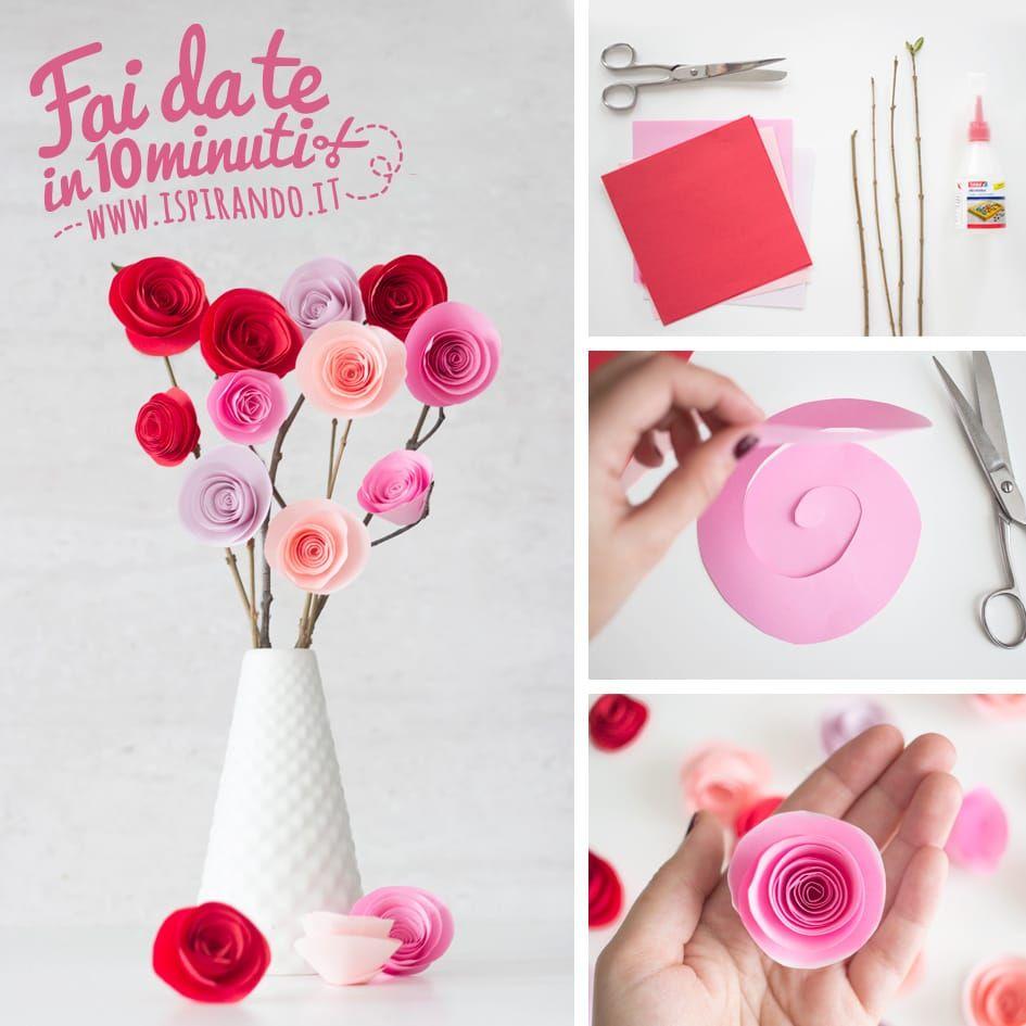 Rose Fai Da Te graziose rose di carta fai da te | crafts, origami, diy