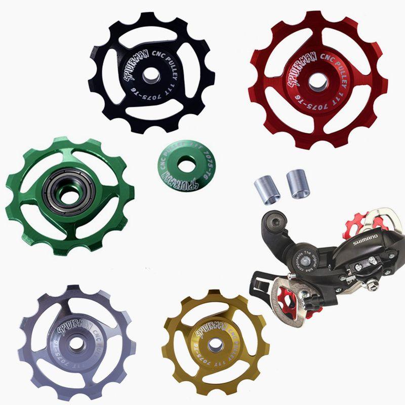 Bicycle Rear Derailleur 7075 Aluminum 11T MTB Road Bik Bearing Jockey Wheel Gear