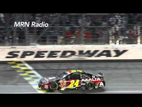 ▶ MRN Radio calls Jeff Gordon's Kansas win - YouTube