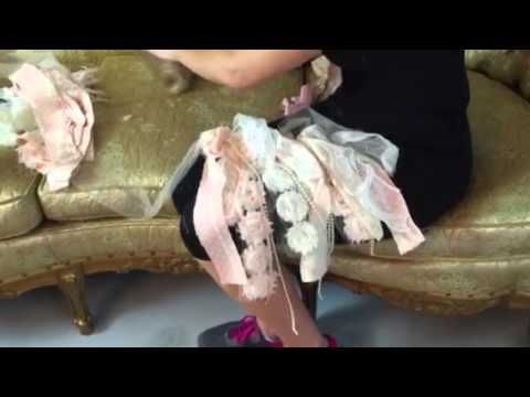 DIY Shabby Chic Banner - YouTube