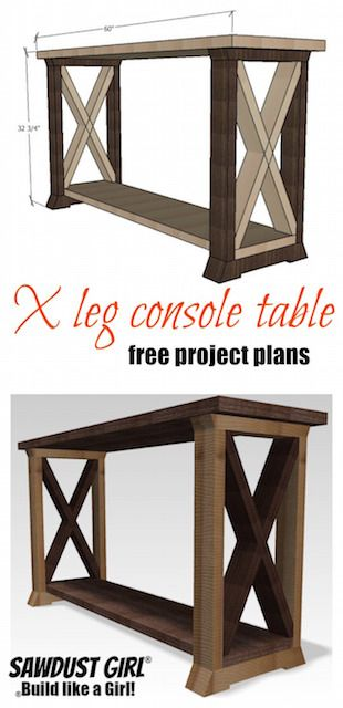 Box Leg Console Table Woodworking Muebles Reciclados