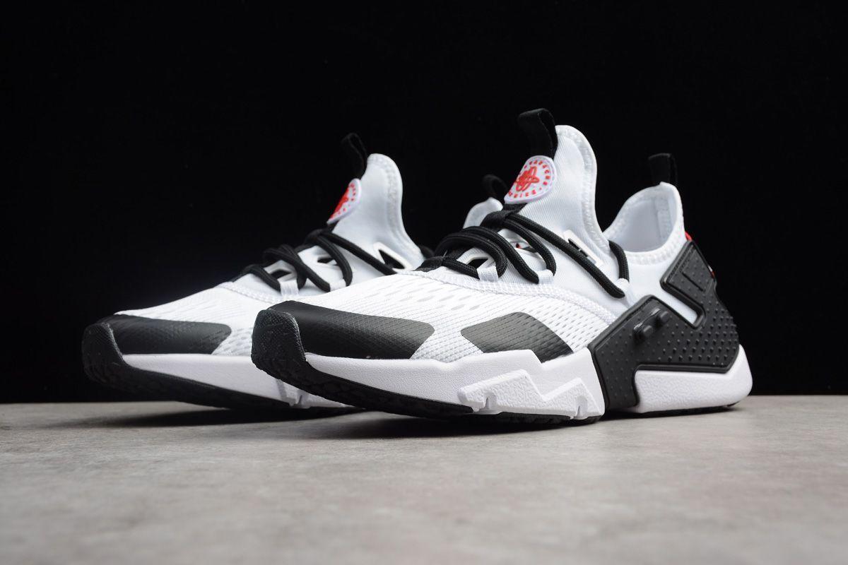 bfbd095acdaa3 Men s Nike Air Huarache Drift BR White Black-Red Running Shoes ...
