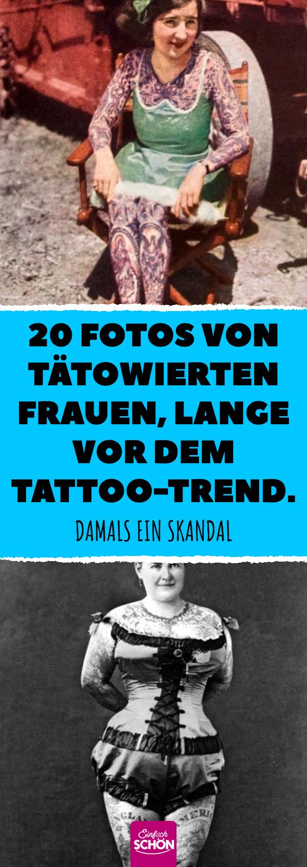 Photo of 20 Fotos von tätowierten Frauen, lange vor dem Tattoo-Trend