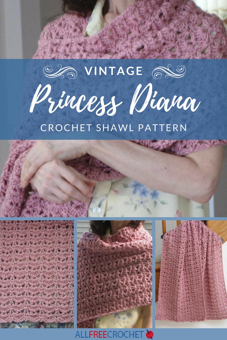 Princess Diana Vintage Crochet Shawl Pattern Crochet Pinterest