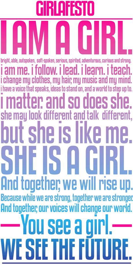 Girl Up's Girlafesto. Awesome.