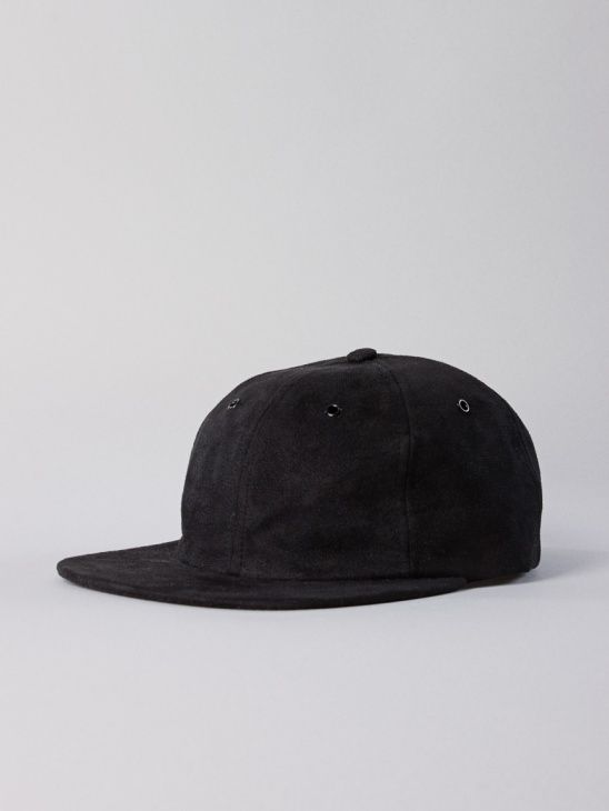 940babc696b Norse Projects Fake Suede 6 Panel Cap Black
