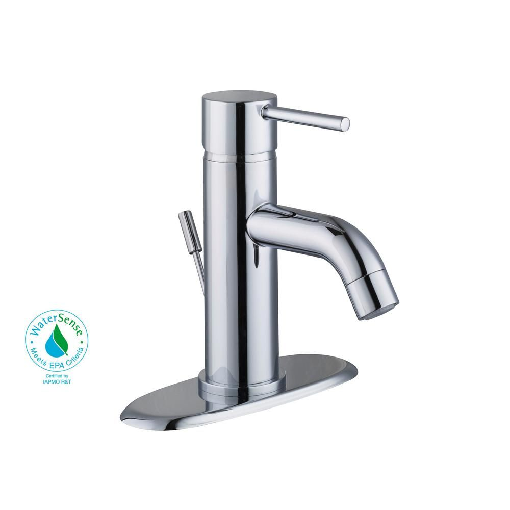 Glacier Bay Modern 4 in. Centerset 1-Handle Low-Arc Bathroom Faucet ...