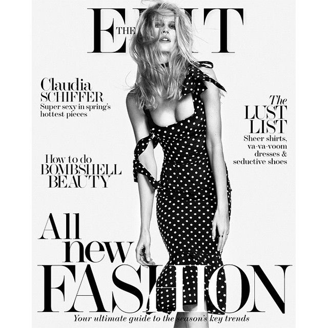 「 This time last year @claudiaschiffer graced the cover of #THEEDIT's Collections issue. And it seems you loved her @dolcegabbana dress as much as we did -… 」