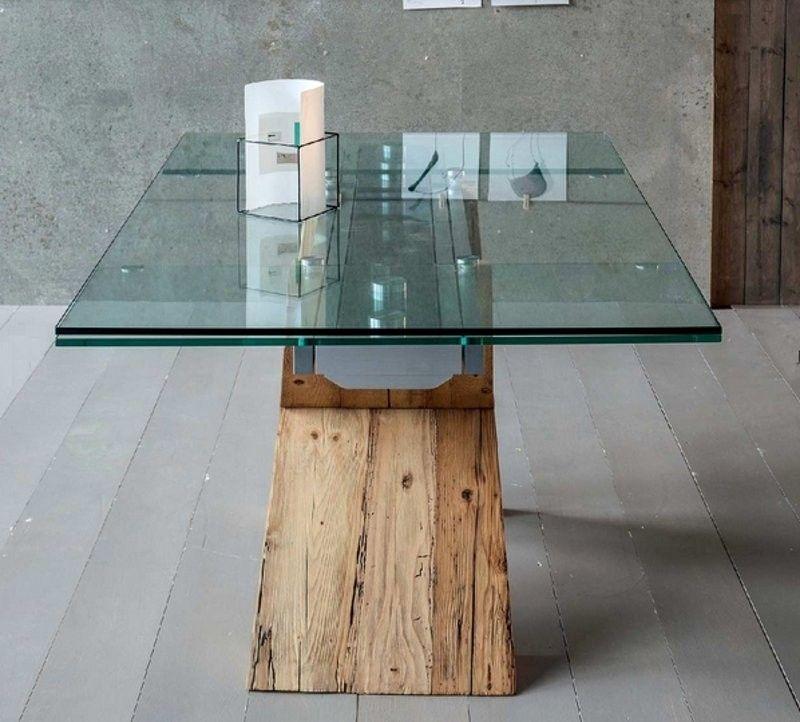 Tavolo legno e vetro Tabià #garneroarredamenti https://www ...