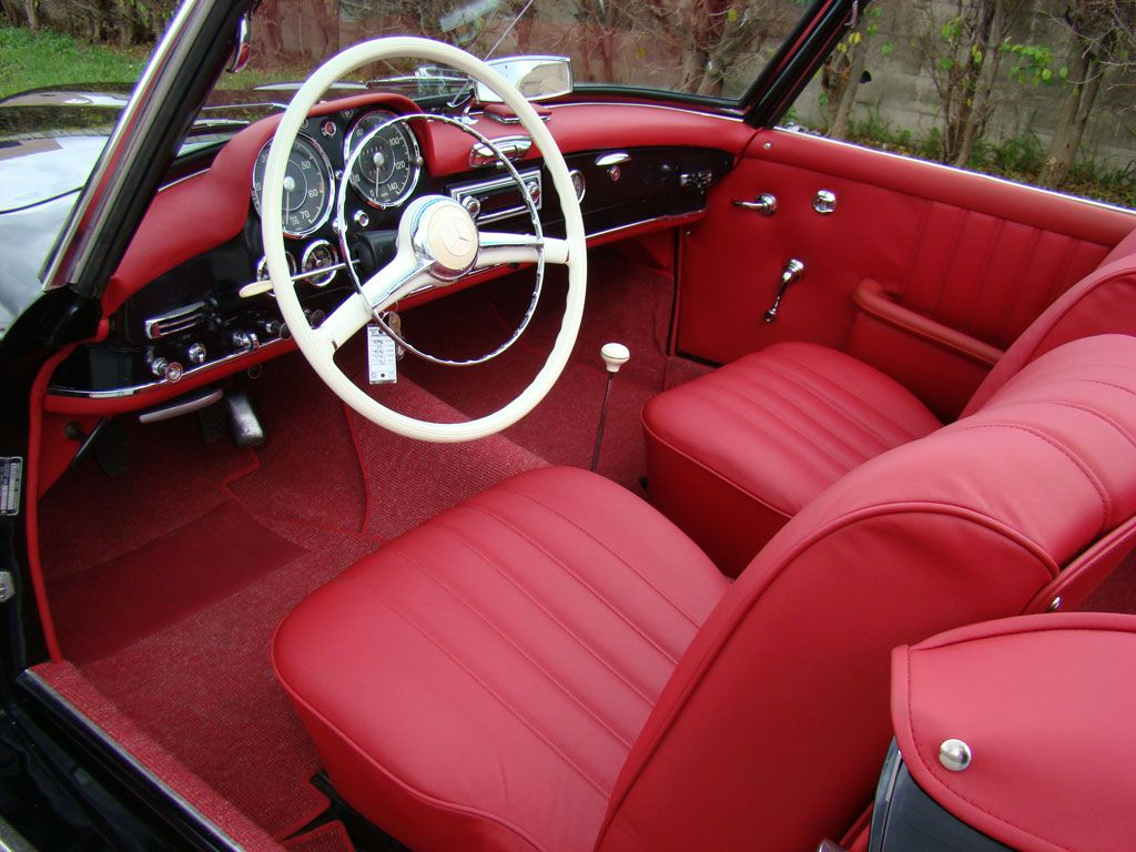 interior of 1961 mercedes benz 190sl 190sl interior pinterest mercedes benz benz and cars. Black Bedroom Furniture Sets. Home Design Ideas