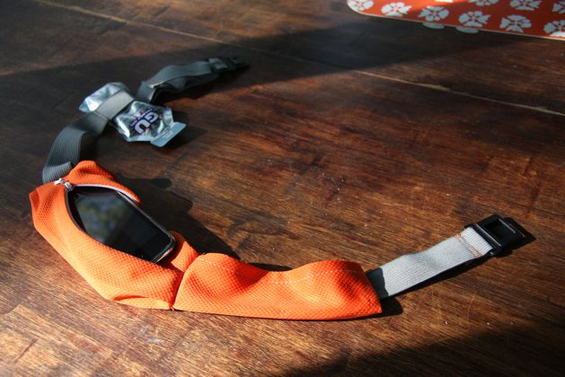 Runner's Utility Belt tutorial.  Repurposing some too-big gym shorts (yay weight loss!) and just bought elastic, clip, and a zipper to make this very soon!