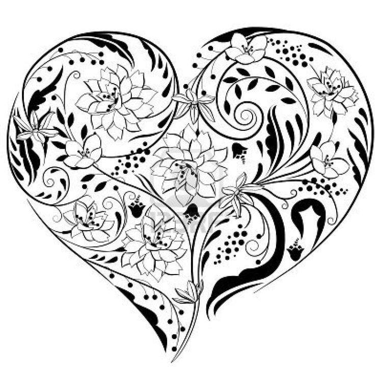 épinglé Par Lolgames Sur Coeurs Coeur Noir Et Blanc