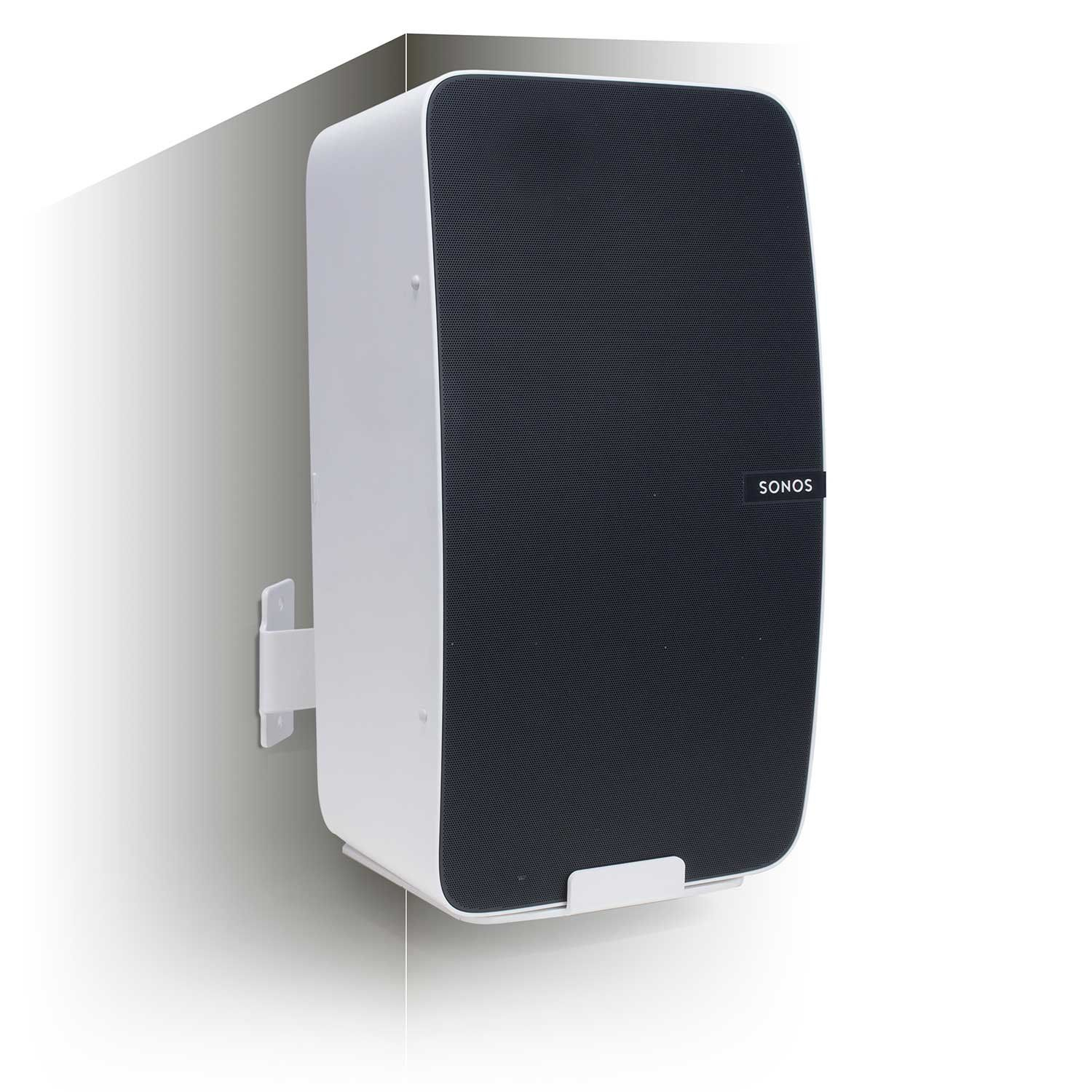 Vebos Corner Wall Mount Sonos Play 5 Gen 2 White Vertical En Optimal Sound Experience In Every Room Allows You To Hang Your Sono Corner Wall Sonos Mounting