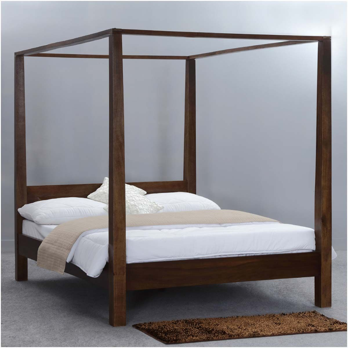 Contemporary Canopy Beds modern rustic philadelphia solid wood canopy bed | canopy beds