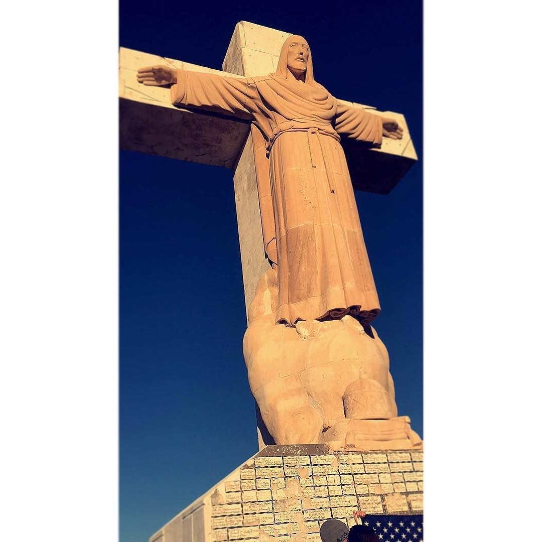 The statue of the risen christ on mt cristo rey in el paso tx the statue of the risen christ on mt cristo rey in el paso tx aiddatafo Gallery