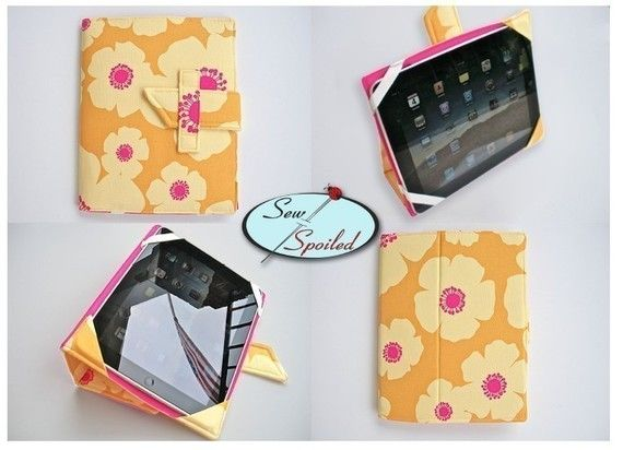 2-PDF Sewing Pattern Sewing Spoiled iPad 2- 4 Folding Case/ Notebook ...