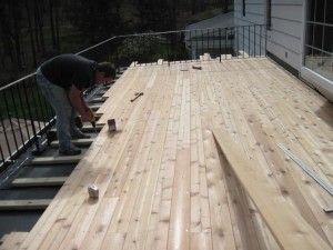 Deck Construction Flat Roof Building A Deck Epdm Flat Roof