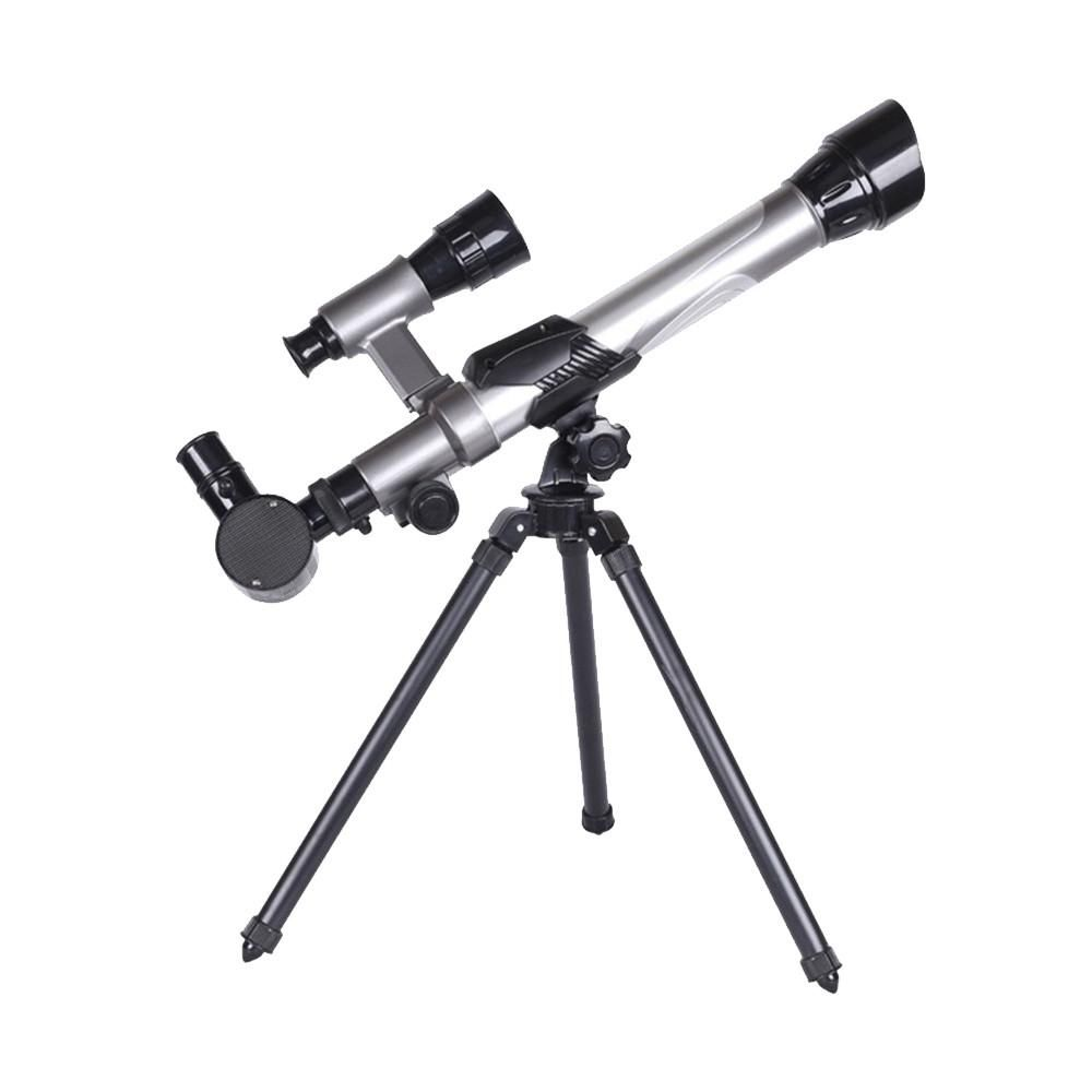 Spotting Scope Lens Single Tube Telescope Silver Finderscope Star