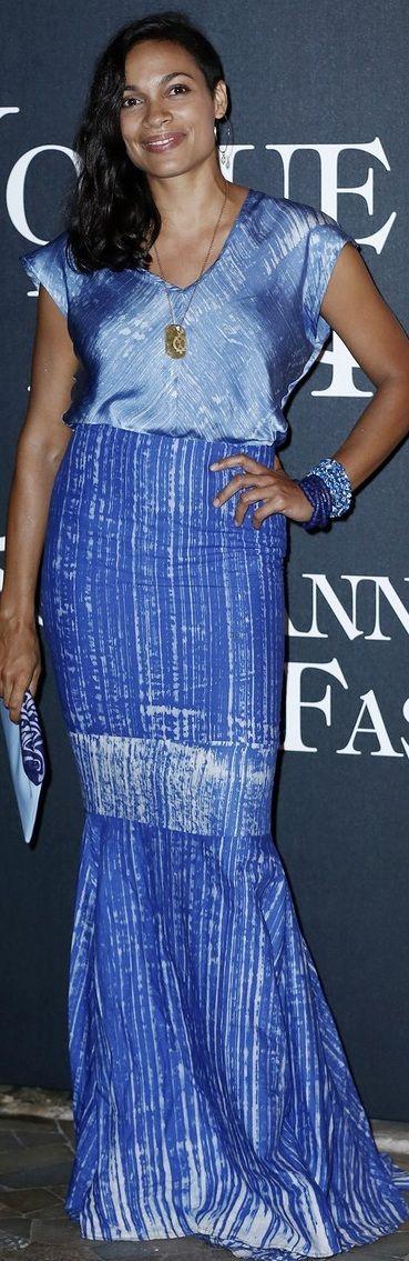 Rosario Dawson at Vogue Italia's 50th Anniversary Event