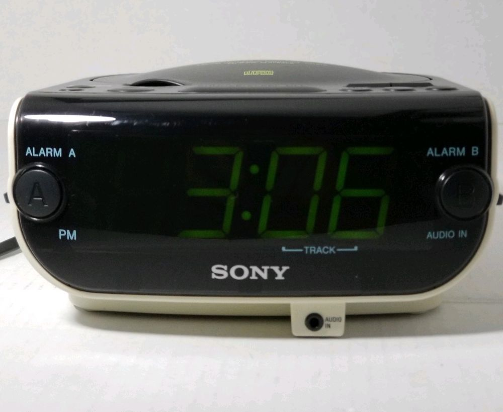 ea2919ff3cf Sony Dream Machine ICF-CD815 FM AM CD Player Clock Radio Large Display 📻   Sony