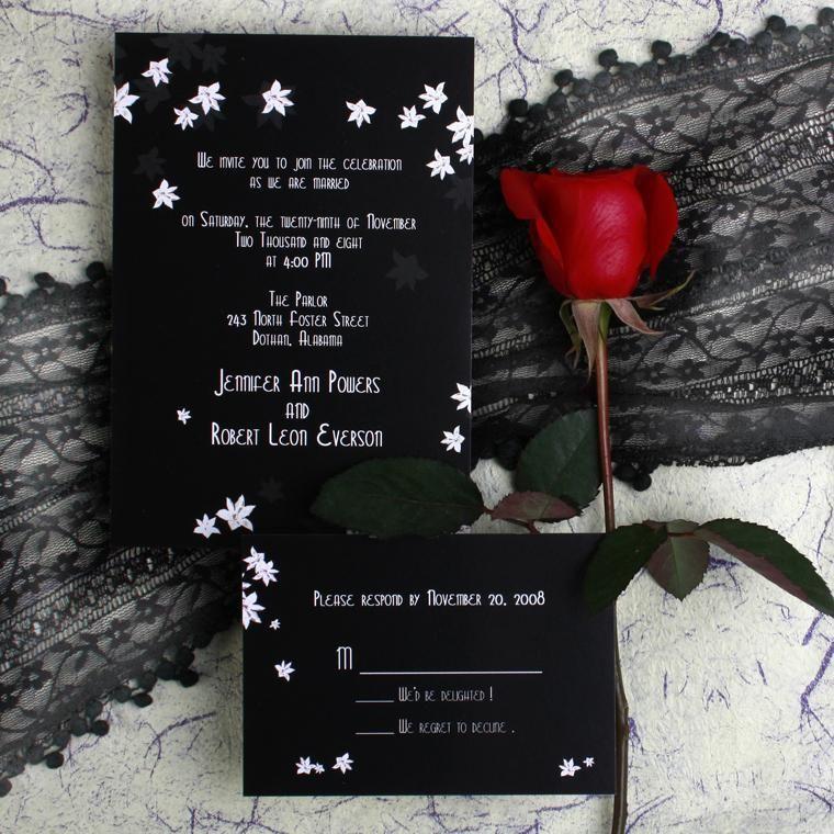Blossom Wedding Invitations [TWI065]: Cheap Wedding Invitations Free Response Card & Printed Envelops @ V.P