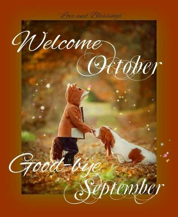 Charmant Welcome October Goodbye September
