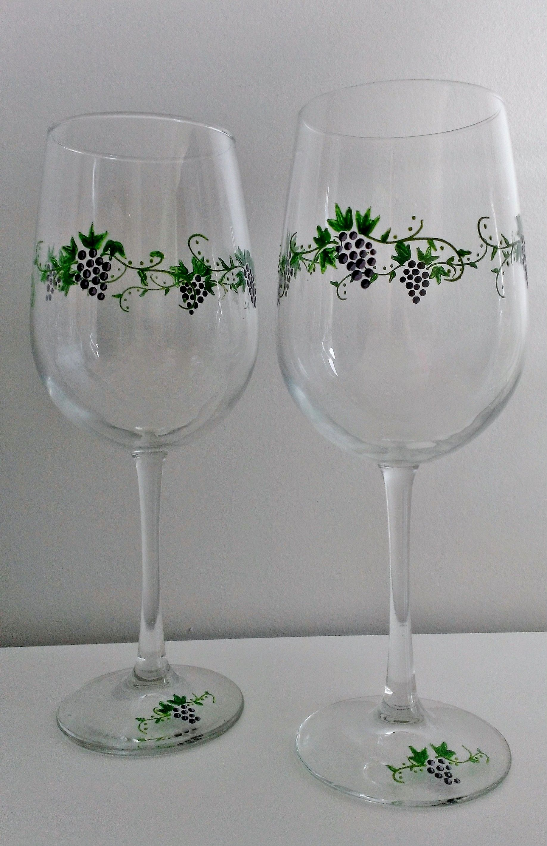 Hand painted Grapevine glasses