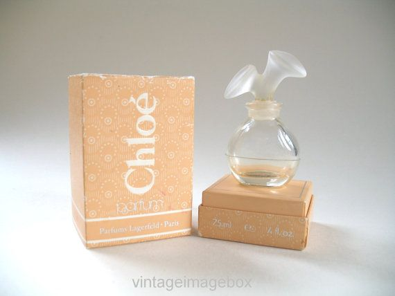 Lagerfeld Chloe Vintage 1970s 1980s Mini Perfume Bottle With Box