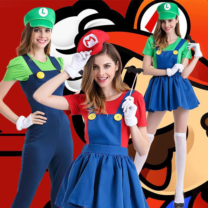 Halloween Super Mario Costume Disfraces Adultos Carnival Costume Adults Women Anime Cosplay Super Mario Bros.  sc 1 st  Pinterest & Halloween Super Mario Costume Disfraces Adultos Carnival Costume ...