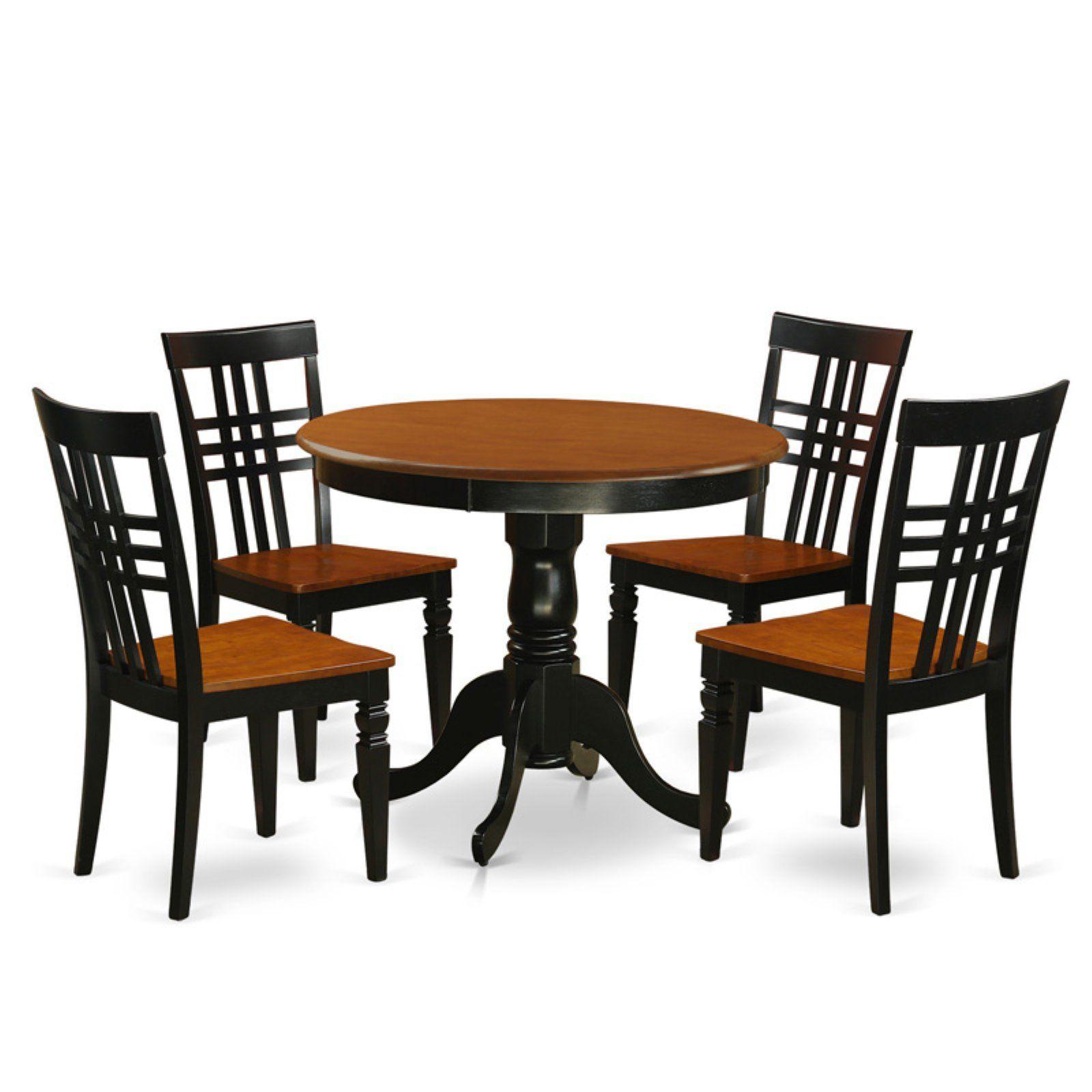 East West Furniture 5 Piece Triple Crossback Kitchen Dinette