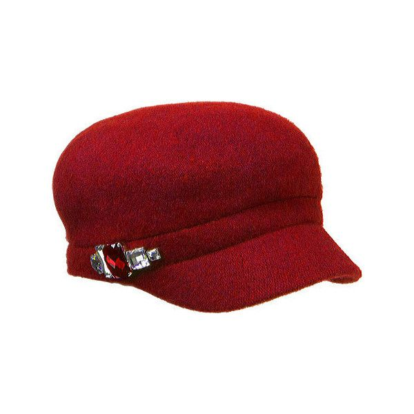 ab3e416aea4 Women s Betmar Rhinestone Cap 2 ( 32) ❤ liked on Polyvore featuring  accessories