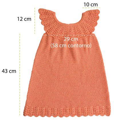 Vestido con canes redondo tejido a crochet para ni as for Gancho de ropa en ingles