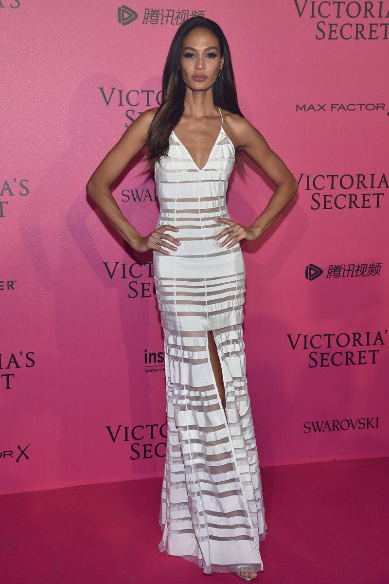 Joan Smalls in Adam Selman - Red Carpet, Victoria\'s Secret Fashion ...