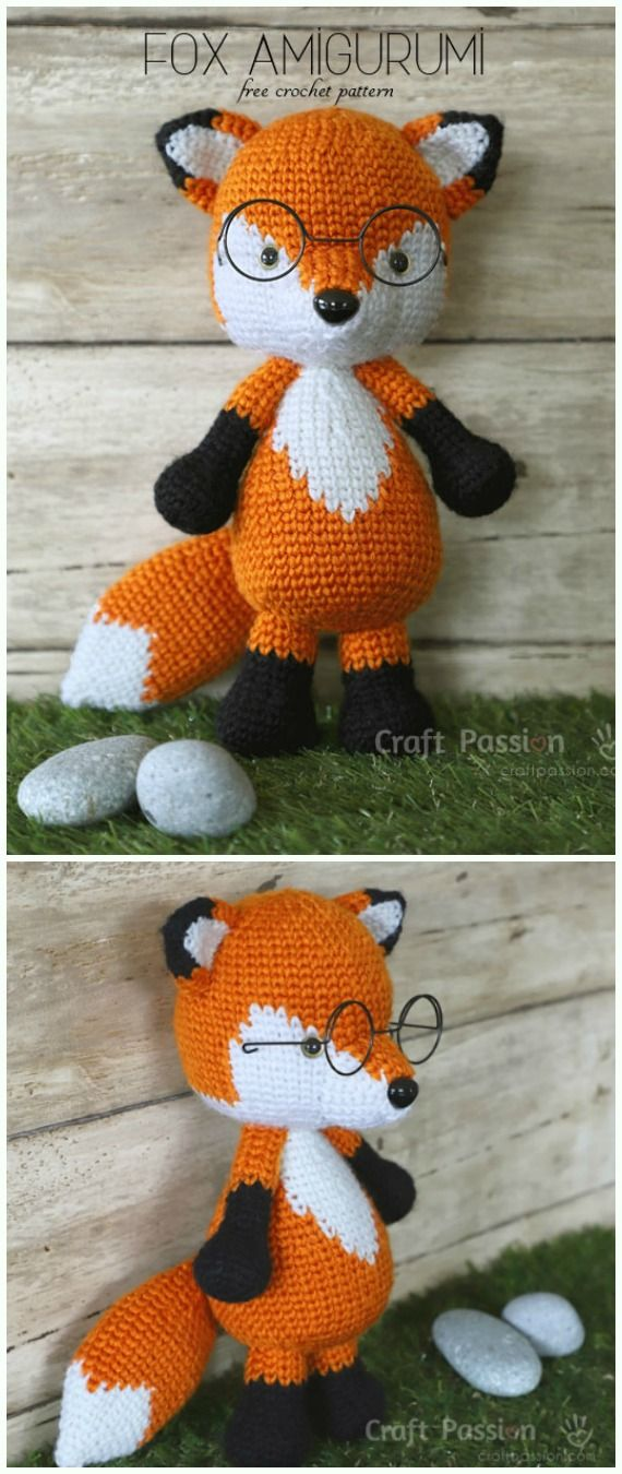 Mr. Furu the Fox Amigurumi Crochet Free Pattern - Crochet #Amigurumi ...