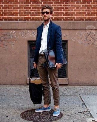 Zapatos azules con cremallera para hombre TmEGUVUvf